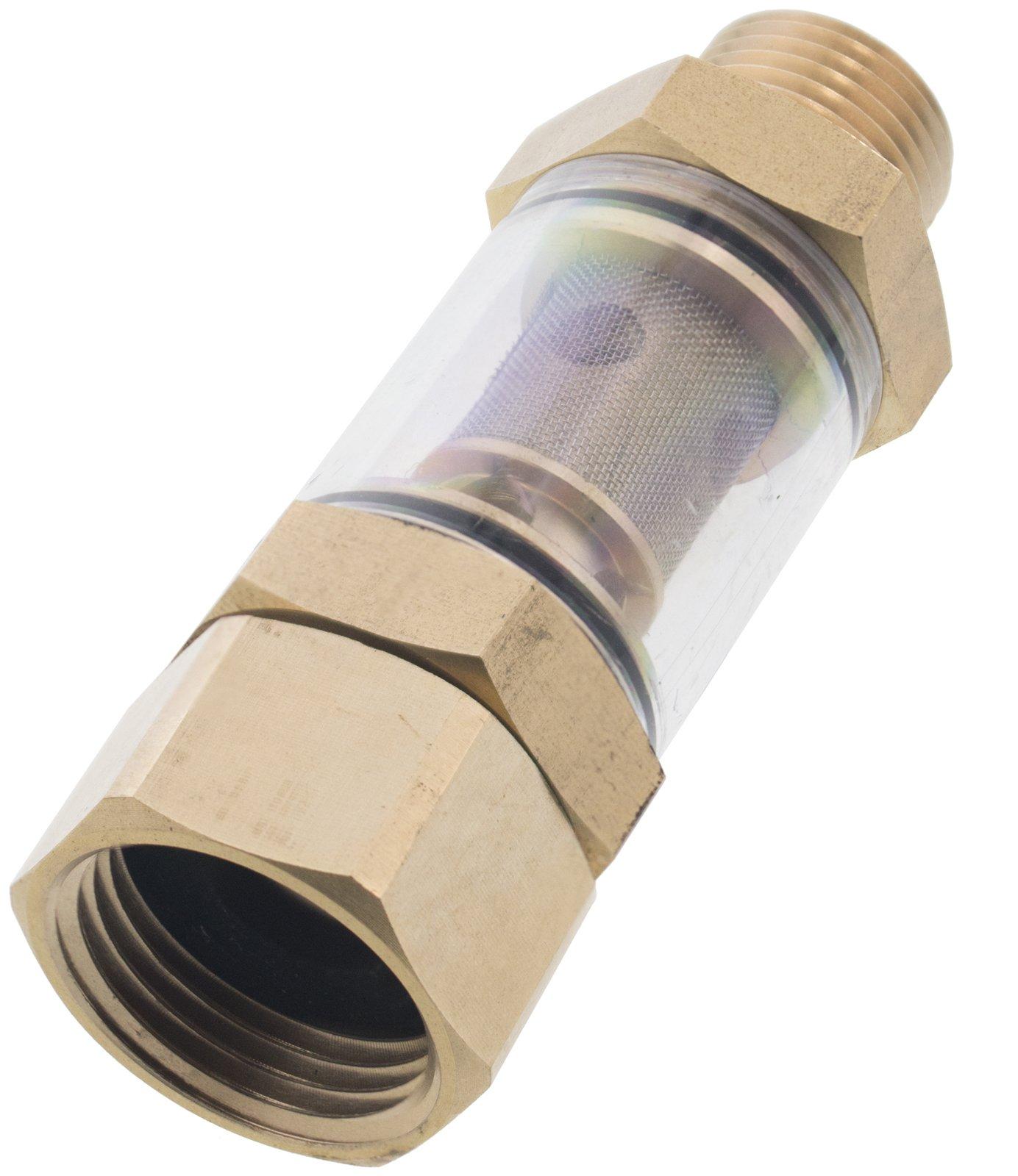Erie Tools Pressure Washer 1/2'' MNPT x 3/4'' FNPT Inlet Water Sediment Filter