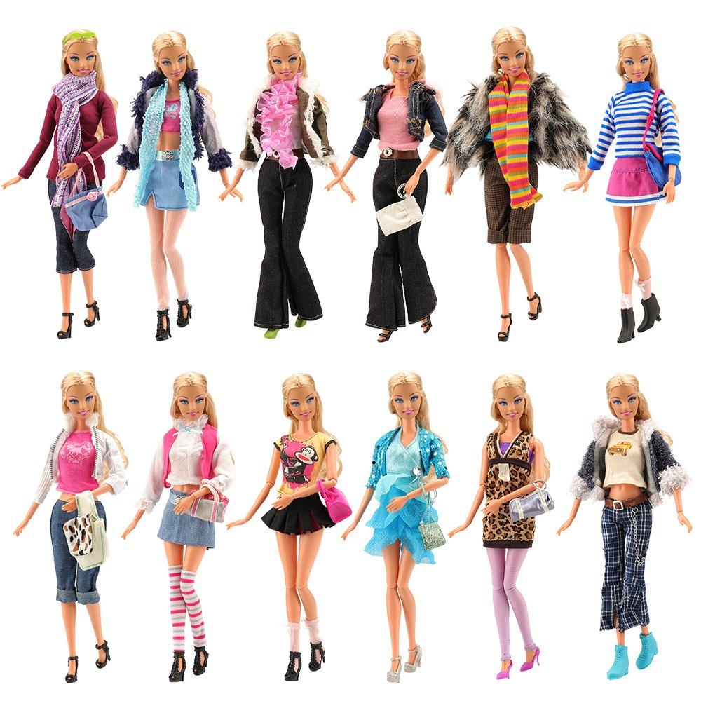 Amazon.es: Miunana 3x Ropas Casual Vestido Falda + 3 pares Zapatos ...