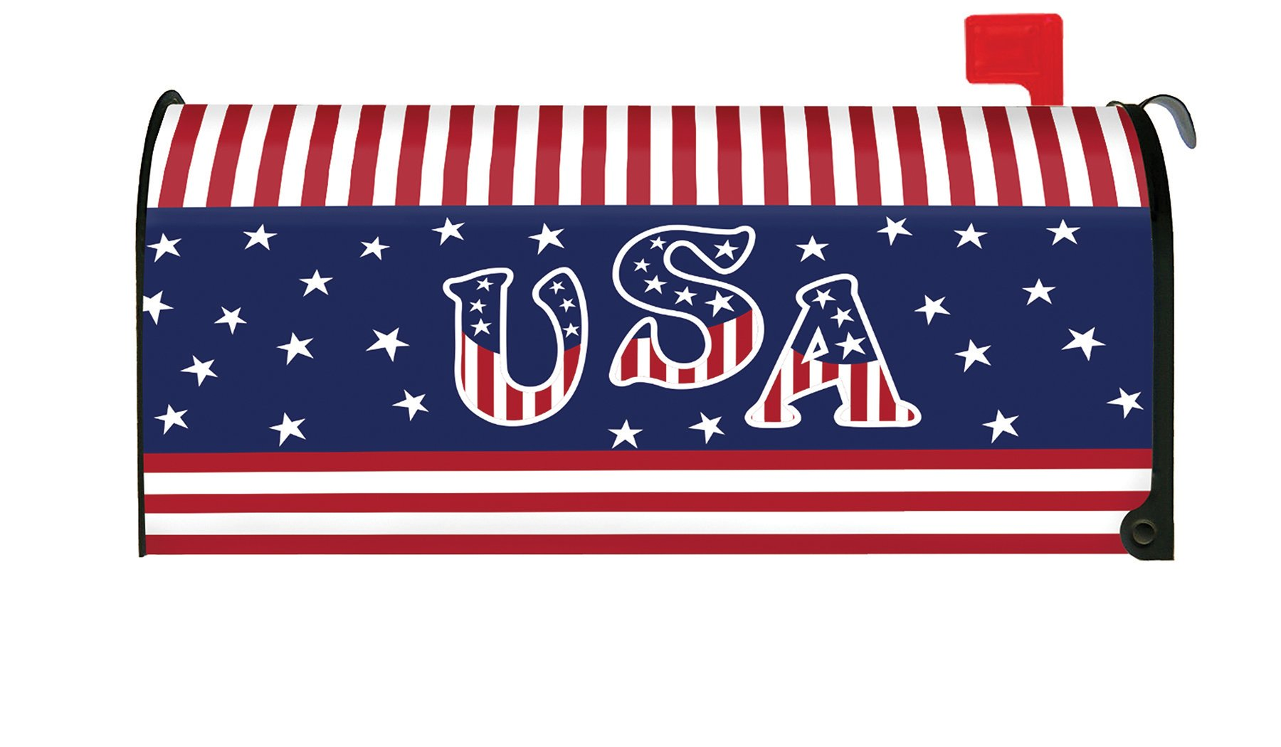Toland Home Garden Veteran Salute Patriotic USA 4th July Magnetic Mailbox Cover