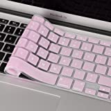iDonzon Ultra Thin Silicone Keyboard Cover for Macbook Pro 13 Inch, 15 Inch (with or without Retina Display, 2015 or Older Version) Macbook Air 13 Inch - Rose Quartz