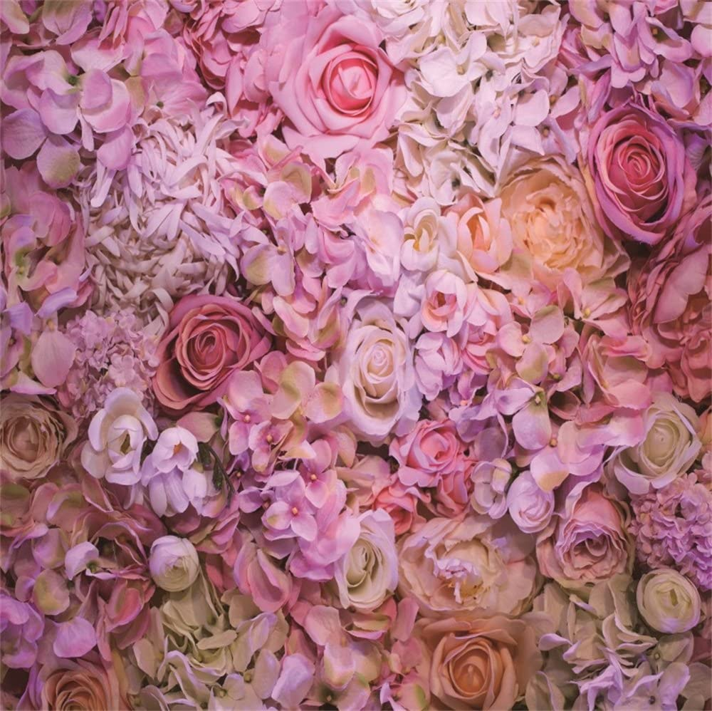 8x10ft Roses Photography Backdrop Floral Wall Photo Studio Props Art Background