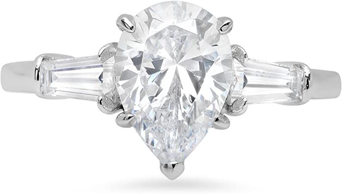 2.50 CARATS OVAL SHAPE CZ SOLITAIRE ANNIVERSARY RING