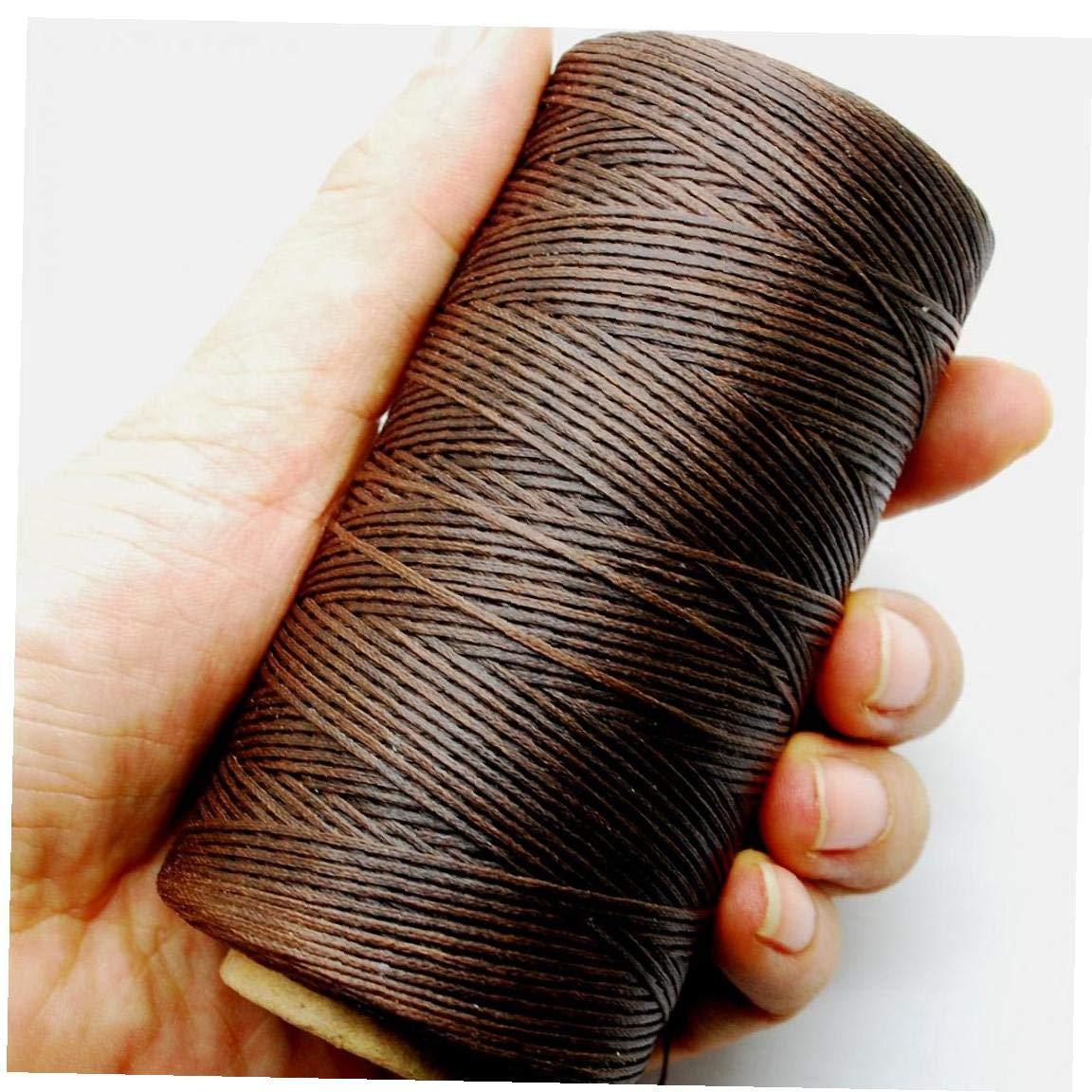 Yinikape 284yrd Profunda de Costura de Cuero marr/ón Hilo Encerado 1mm 150D Mano Costura de Cuero 125g