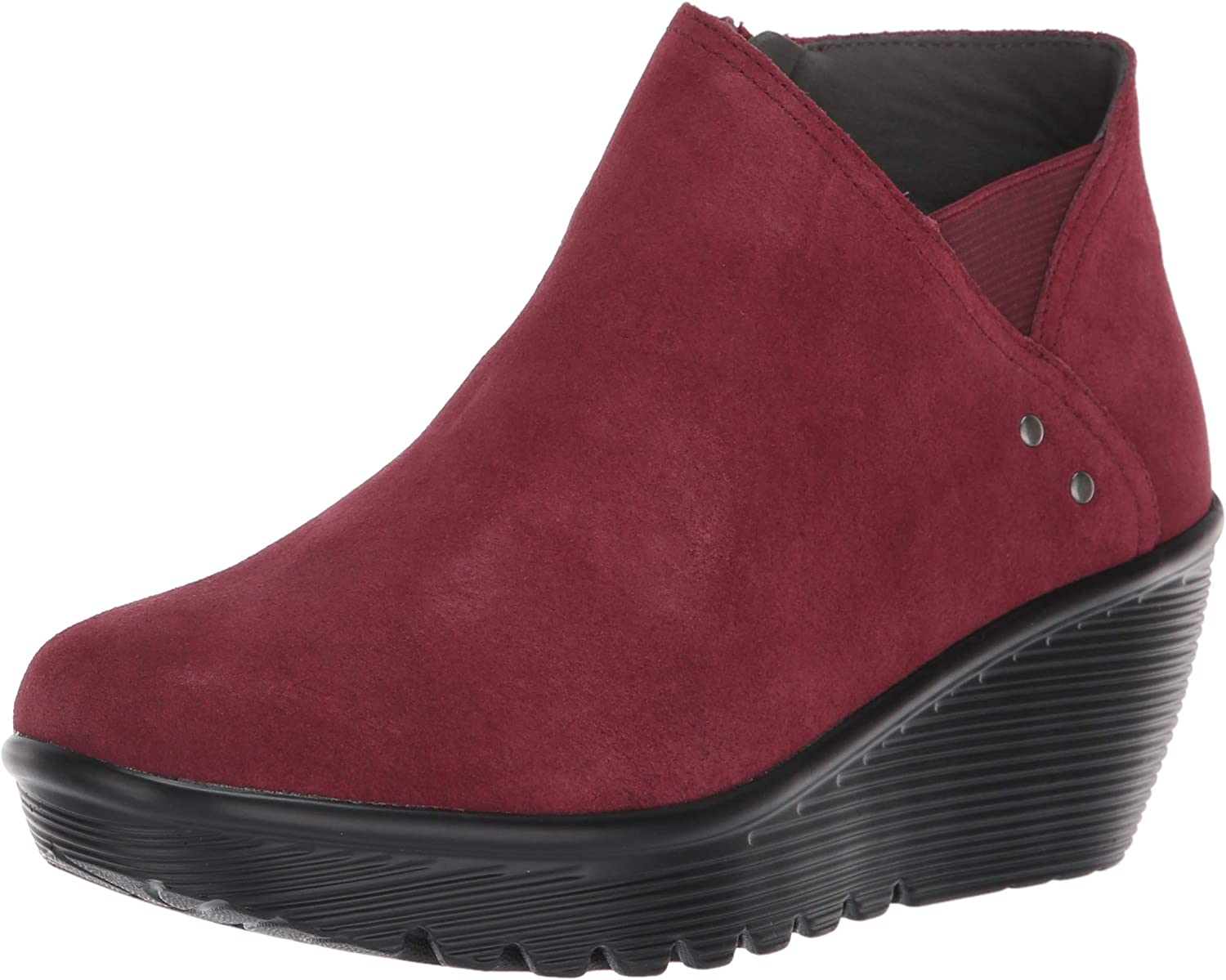 Skechers Women's Parallel-Ditto-Asymmetrical Bootie Award-winning store Limited price Collar Suede