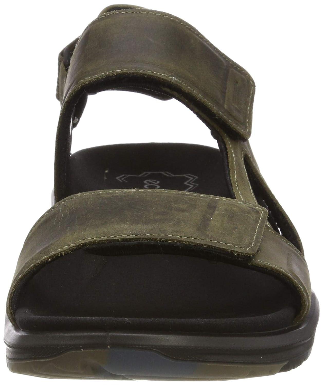 ECCO Men's X-Trinsic Sandal, Tarmac Leather, 40 M EU (6-6 5 US)
