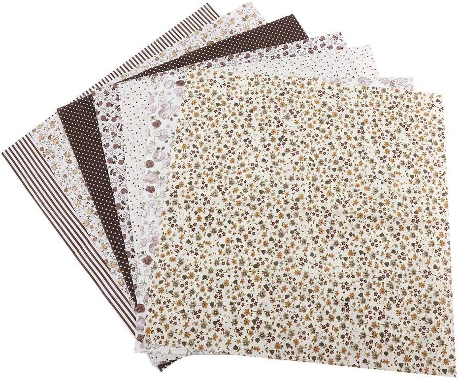 Set colorido de 7Pcs 100/% Tela De Algodón 25cm surtidas precortadas Grandes Cuartos En bulto Set