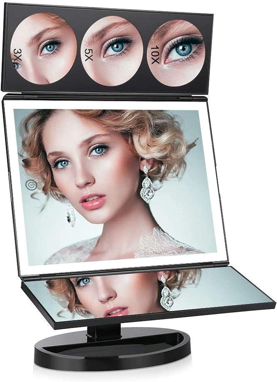 FASCINATE 10X-5X-3X Tabletop Magnifying Makeup Mirror