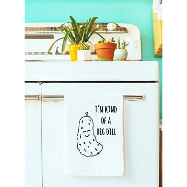 Funny Vegetable Dish Towel - I'm Kind Of A Big Dill - Kitchen Cloth/Dish Towel