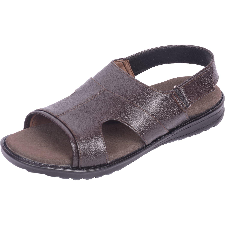 - Vonzo Men braun Soft Heel Pain Doctor Sandal with Arch Heelpad 671