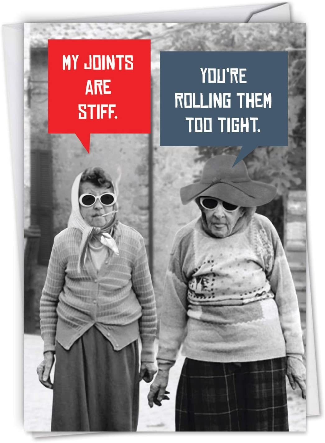 Humour Funny Retro Vintage Style Birthday Card For Any Birthday or Relative