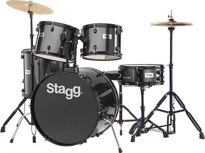Seat Stagg TIM516-JR 5 Piece Junior Drum Set Complete Set w// Sticks Cymbals