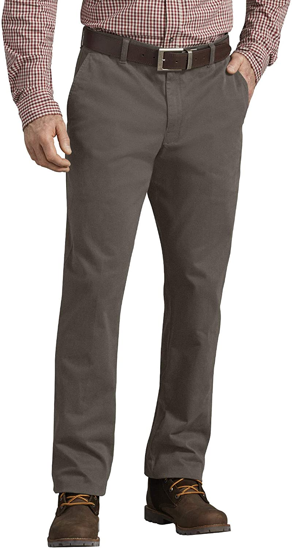 Reg Taper Work Utility Pants Dickies Mens Performance Chino Flat Front Pant
