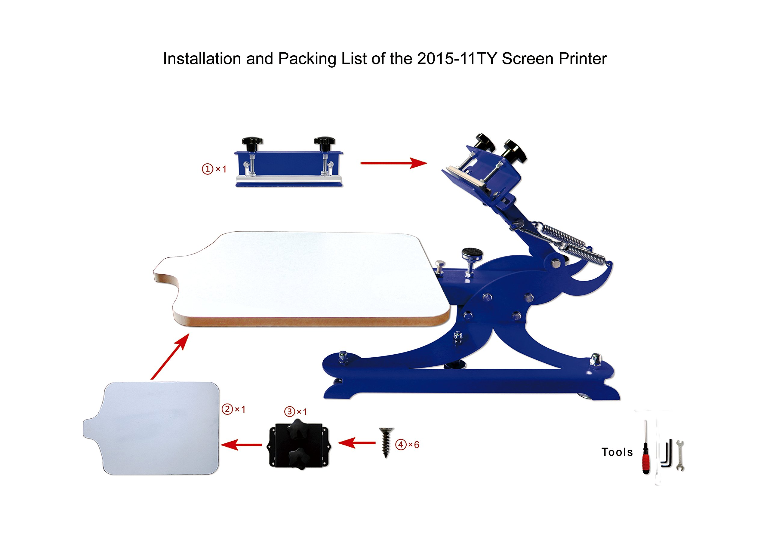 1 Color Silk Screen Printing Press Screen Printer Tshirt Heavy Duty