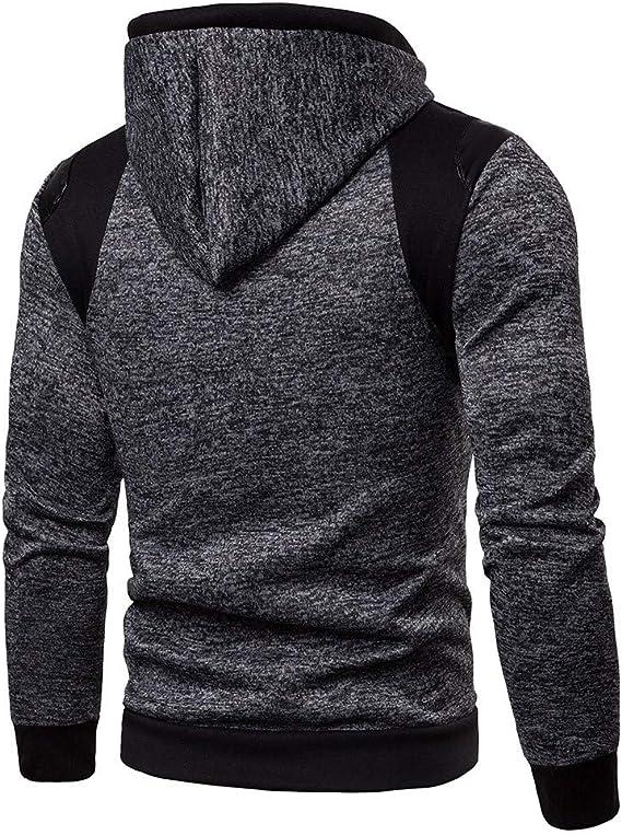 LILICAT Herren Hoodie Regular Fit Leinenhemd Reißverschluss