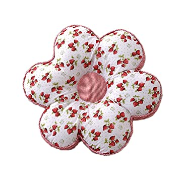 Amazonde Cyalz Blumenform Rot Erdbeere Blumenmuster Baumwolle Pp