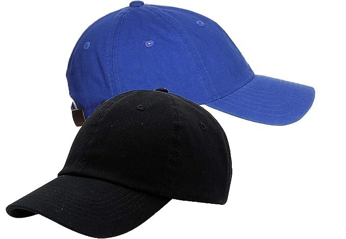 f1290f012841 Zipper-G Caps Combo Pack Black   Blue Cotton Baseball Cap for Men Women Free