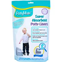 PottyMate - Potty Liners with Super Absorbent Pad, Value Pack of 36 - with a Target to Encourage Proper aim - Light Scent - Fits All Size & Brand Potties