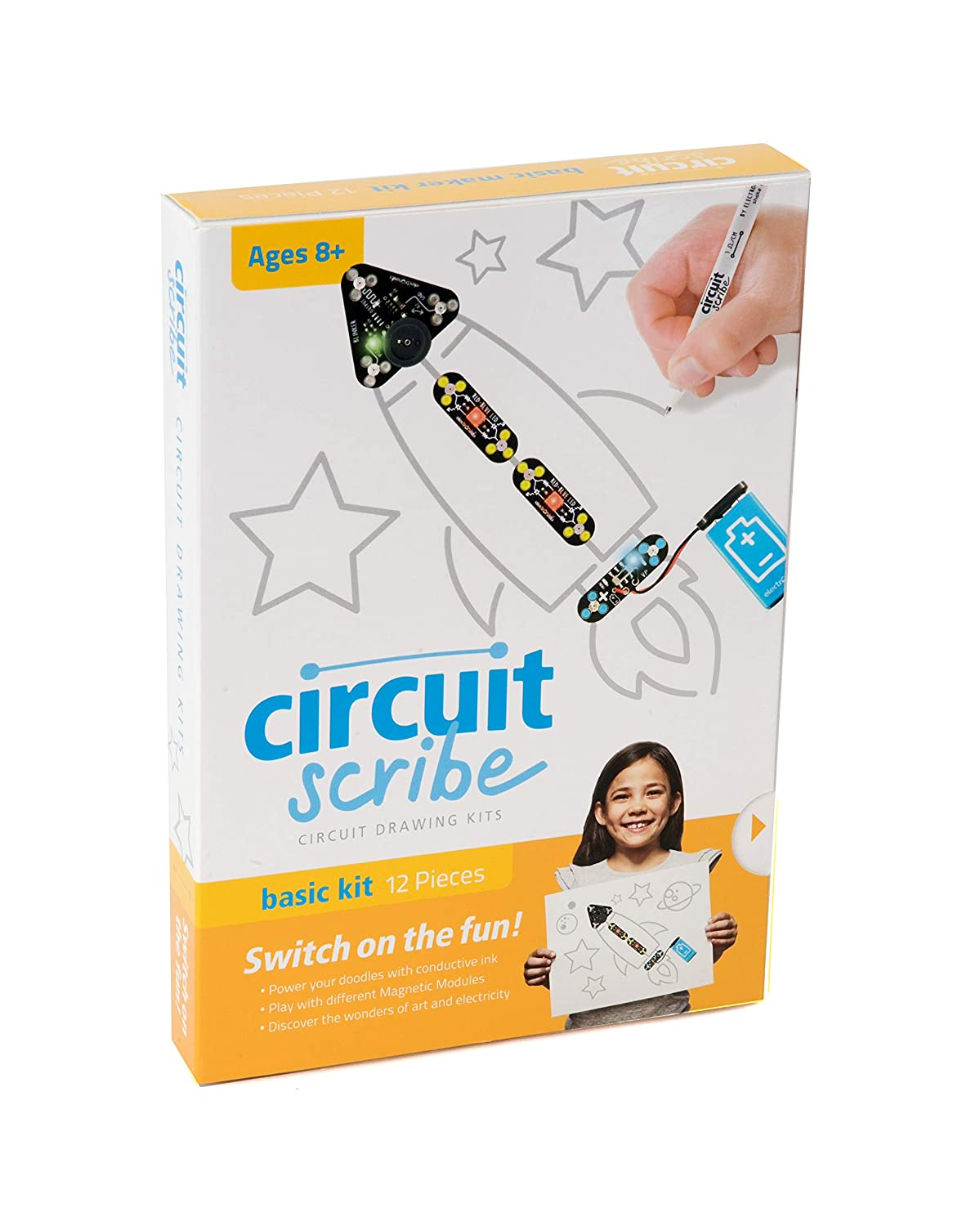Circuit Scribe Basic Kit Includes Conductive Silver Fun And Easy To Build Buzzer Ink Pen Learn Explore Create Your Own Circuits Switches Toys Games