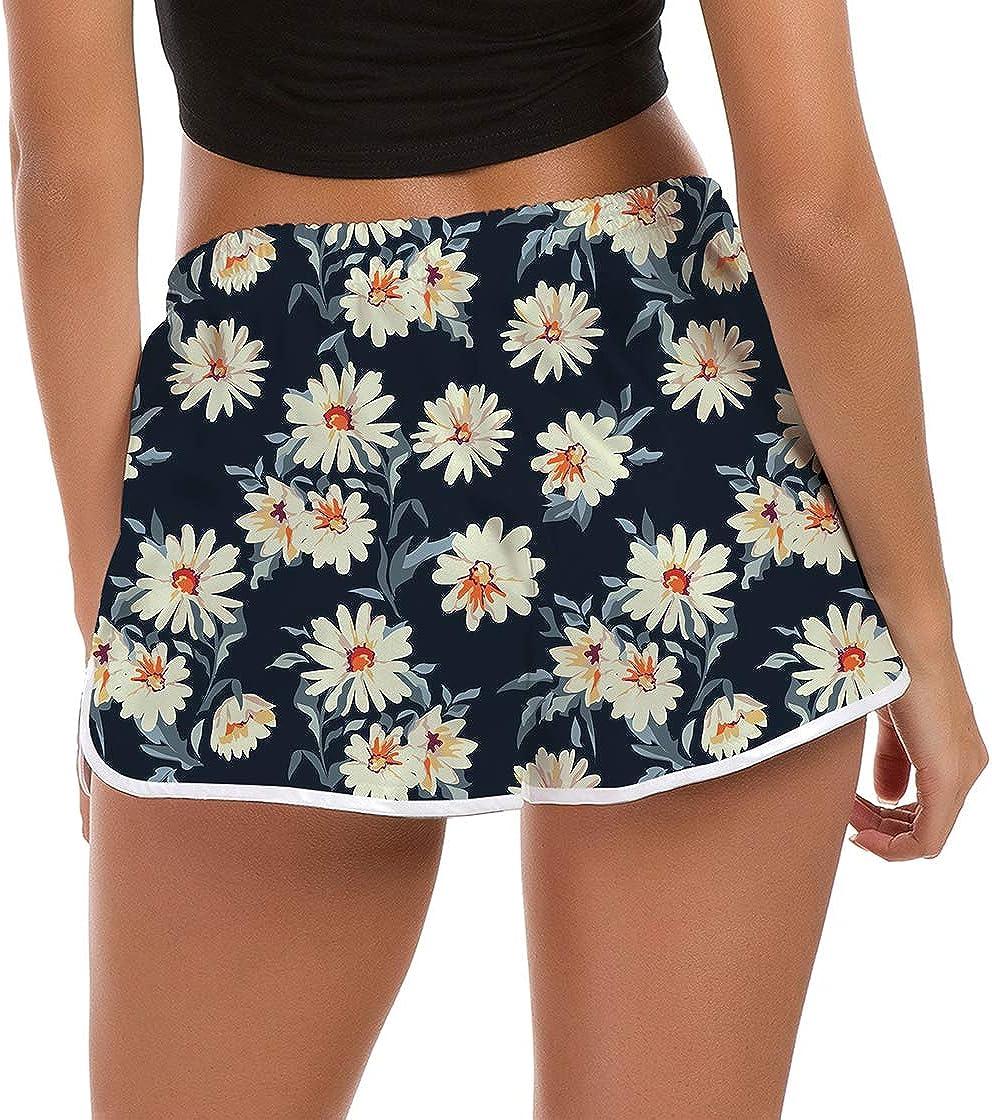 Womens Comfy Lightweight Bathing Suit Bottoms 3D Graphic Stretch Adjustable Drawstring Yoga Pants Hot Shorts Sleepwear Pants Slim Fit Workout Gym Sports Lounge Pants S Black White
