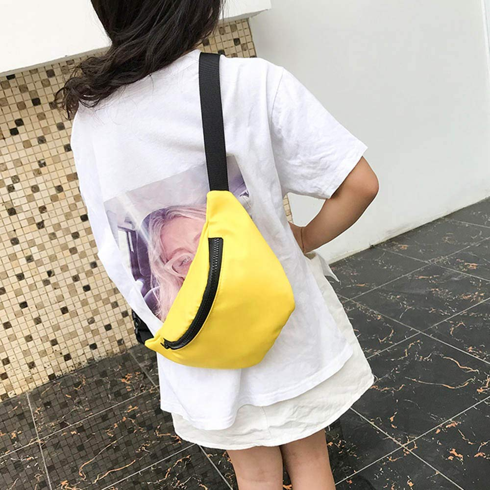 Fashion Children's Bag Waist Bag Chest Bag,Outsta Coin Purse Snack Pack Zipper Fanny Classic Daypack Travel (Yellow) by Outsta Bags (Image #5)
