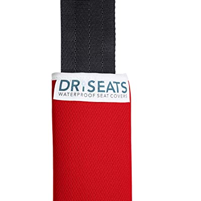 Dri Seats Waterproof Seat Belt Covers (2 Pack) (Red): Automotive