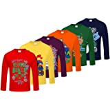 Kiddeo Boy's Cotton Full Sleeves T-Shirts MultiColour (Pack of 6)