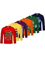 Kiddeo Boys Full sleeve t shirts (pack of 6)