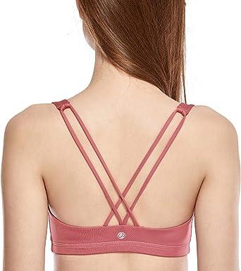 TALLA XL. CRZ YOGA - Sujetador Deportivo Yoga Cruzados Espalda Sin Aros para Mujer