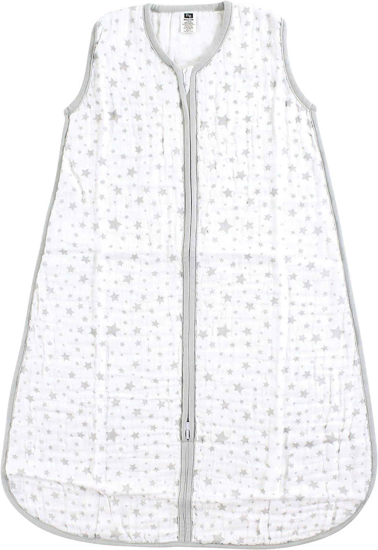 Hudson Baby Unisex Baby Safe Sleep Wearable Muslin Sleeping Bag
