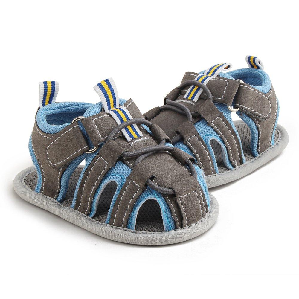 DELEBAO Zapatos Beb/é Ni/ño Sandalias Bebe Zapatillas Verano para Bebes con Suela Antideslizante Suave para Primeros Pasos para Los Ni/ños