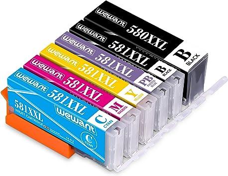 Wewant Kompatible Pgi 580xxl Cli 581xxl Druckerpatronen Als Ersatz Für Canon 580 581 Multipack Xl Für Canon Pixma Ts8150 Ts8151 Ts8152 Ts8250 Ts8251 Ts8252 Ts9150 Ts9155 Pgbk Bk Pb C M Y Bürobedarf Schreibwaren