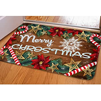 Amazon.com: HUGS IDEA Merry Christmas Doormat Welcome Door Mat Rug ...
