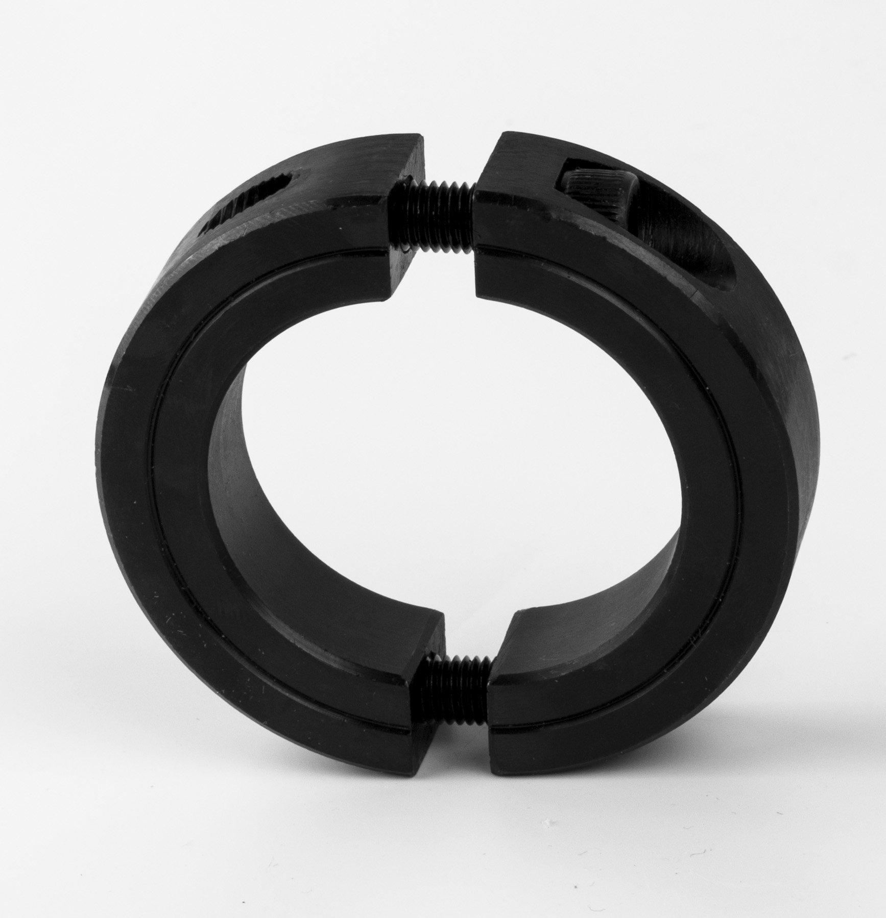 1-3/4'' Bore Double Split Shaft Collar Black Oxide Set Screw Style (2 PCS)
