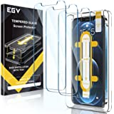 EGV 3 Pack Screen Protector Compatible with iPhone 12 Pro/iPhone 12 5G 6.1-inch, 9H HD Clear Tempered Glass, Case Friendly, A