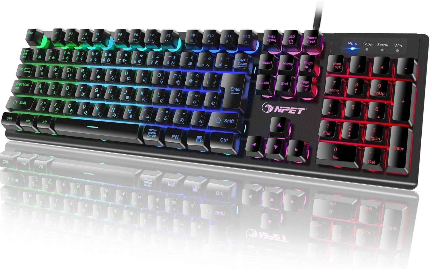 NPET ゲーミングキーボード K10