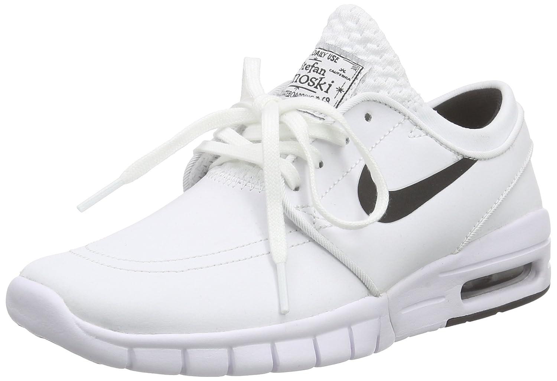 Nike Unisex-Erwachsene Stefan Janoski Max L Low-Top  36.5 EU|Wei? (100 White/Black)