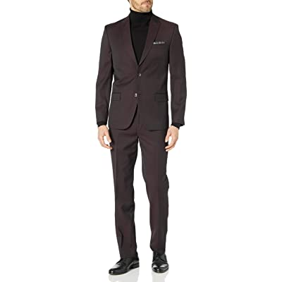 Ben Sherman Men's Slim Fit Two Button Windowpane Suit: Clothing