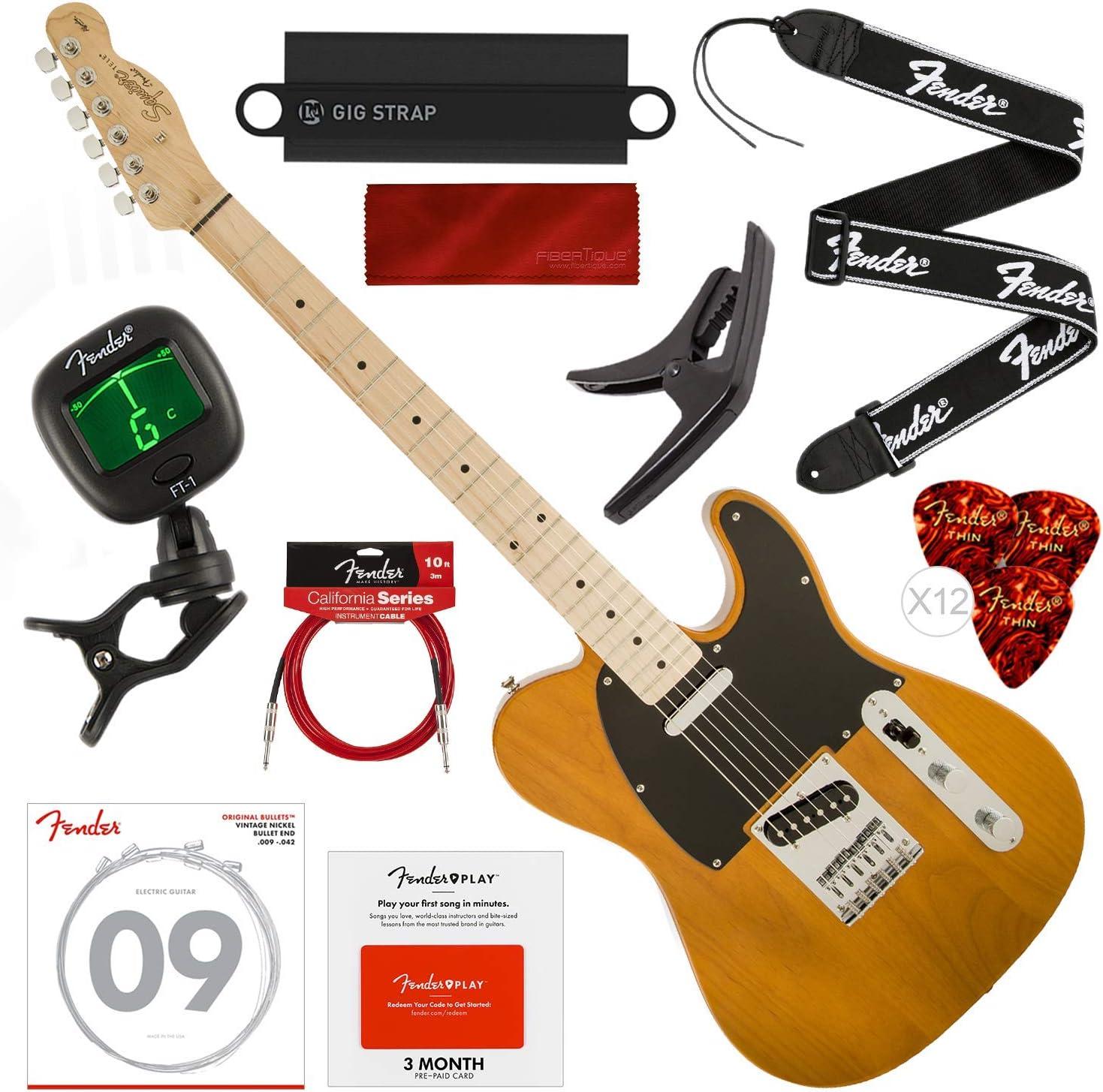 Squier por Fender Affinity Series Telecaster Guitarra eléctrica ...