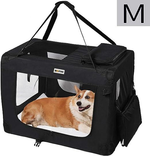 MC Star Transportin para Perros Gatos Mascotas Plegable Portátil Impermeable Tela Oxford Portador Bolsa de Transporte para Coche Viaje, M 60 x 42cm Negro: Amazon.es: Productos para mascotas