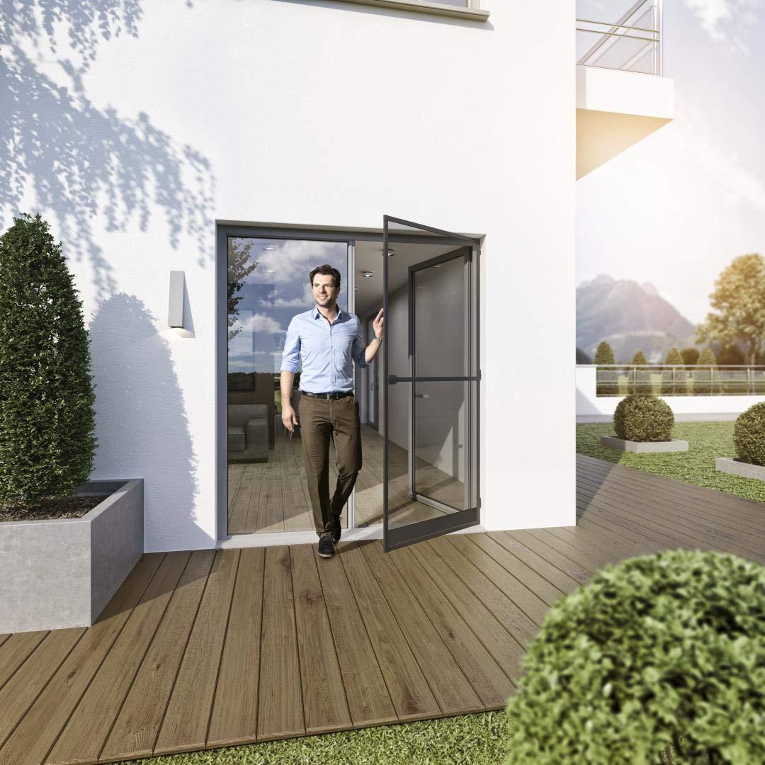 KIT porte-moustiquaire blanc cadre tendeur 125x245cm