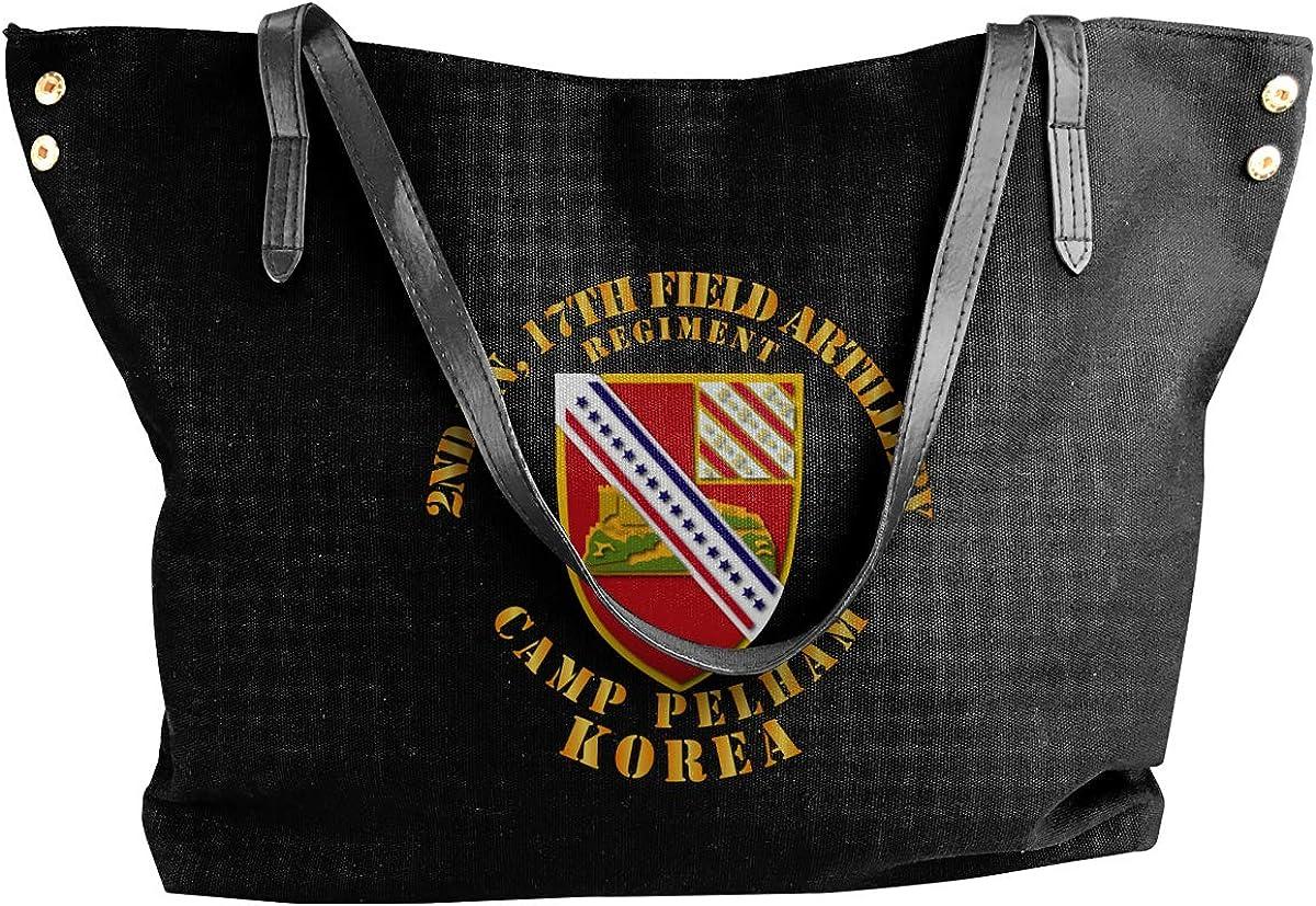 2nd Bn 17th Field Artillery Regt Womens Tote Bags Canvas Shoulder Bag Casual Handbags