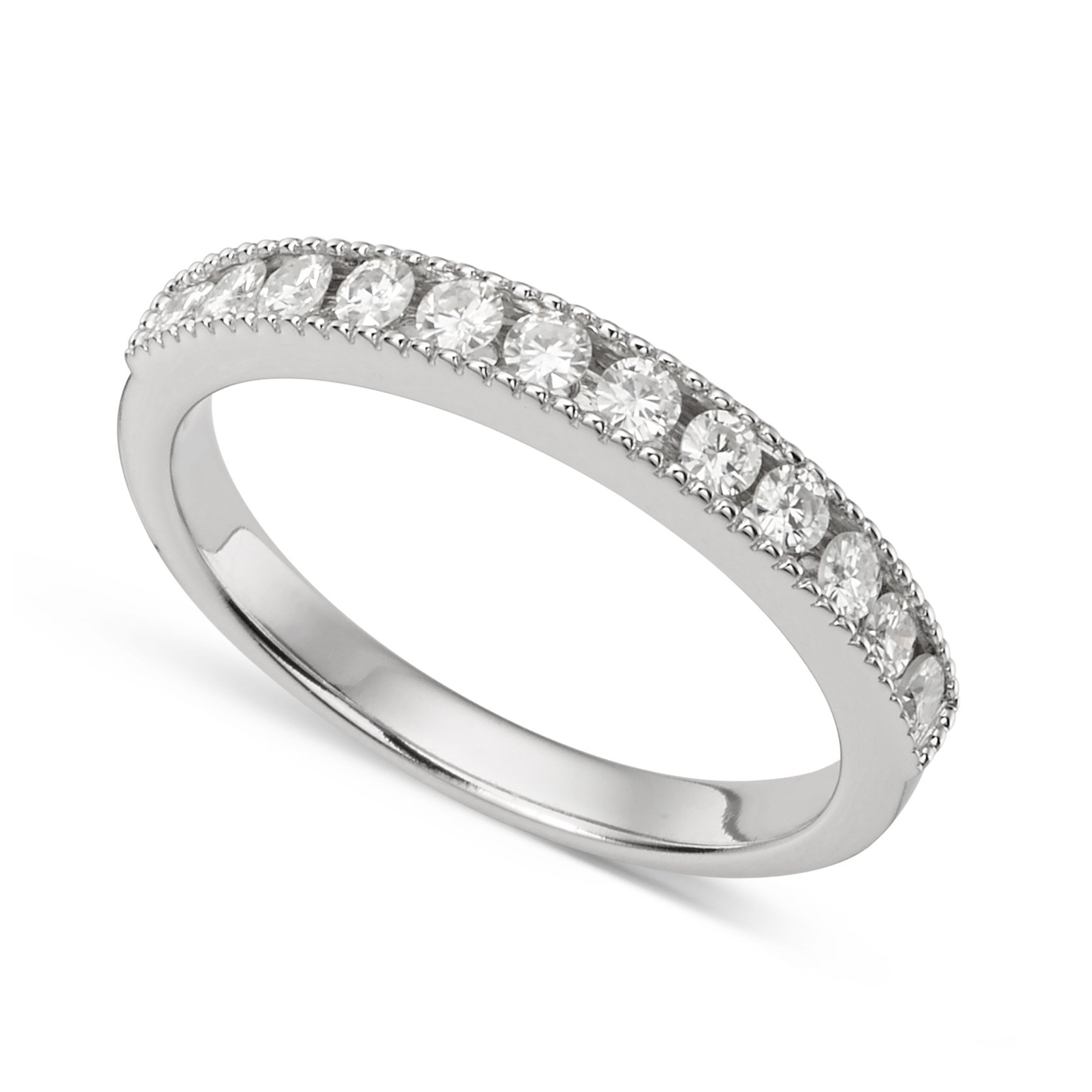 Forever Classic 2.0mm Melee Moissanite Channel Band- size 7, 0.36cttw By Charles & Colvard