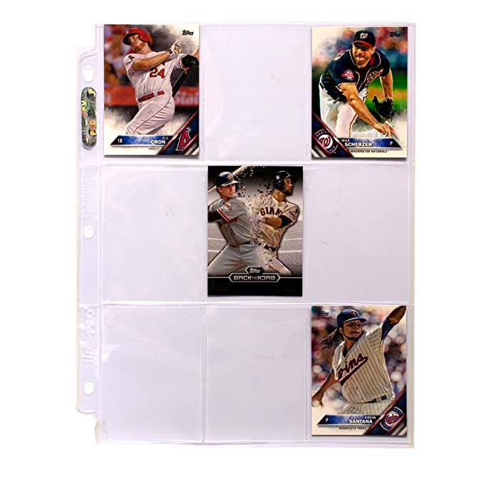 Ultra Pro 9 Pocket Silver Series Page Protector For Standard Size Cards