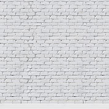 Konpon 8x8ft Seamless White Brick Wall Backdrop For Photography Brick Backdrop Photo Props Brick Paper Background Kp 248 Camera Photo