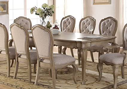ea9632ea3162 Image Unavailable. Image not available for. Color: ACME Chelmsford Antique  Taupe Dining Table