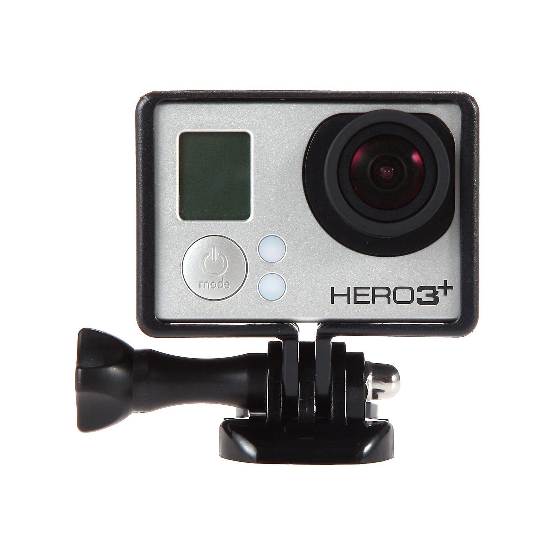 LuxeBell® Frame Border Mount para GoPro Hero 4 3 + y 3 con BacPac – All Slots completamente Accesible – Ligero y compacto vivienda