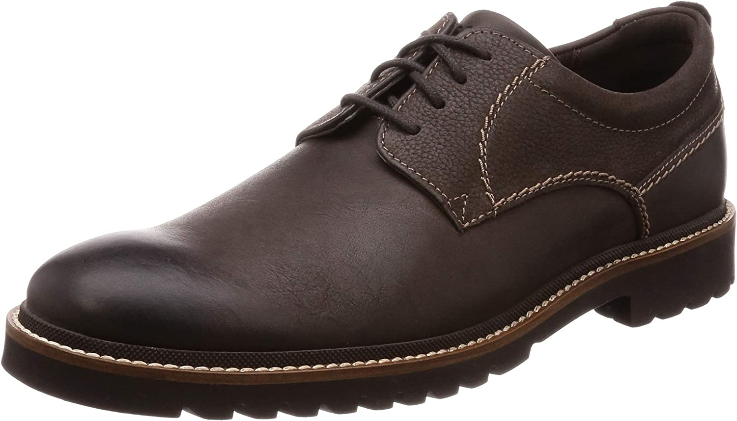 Rockport Marshall Plain Toe, Zapatos de Cordones Oxford para Hombre