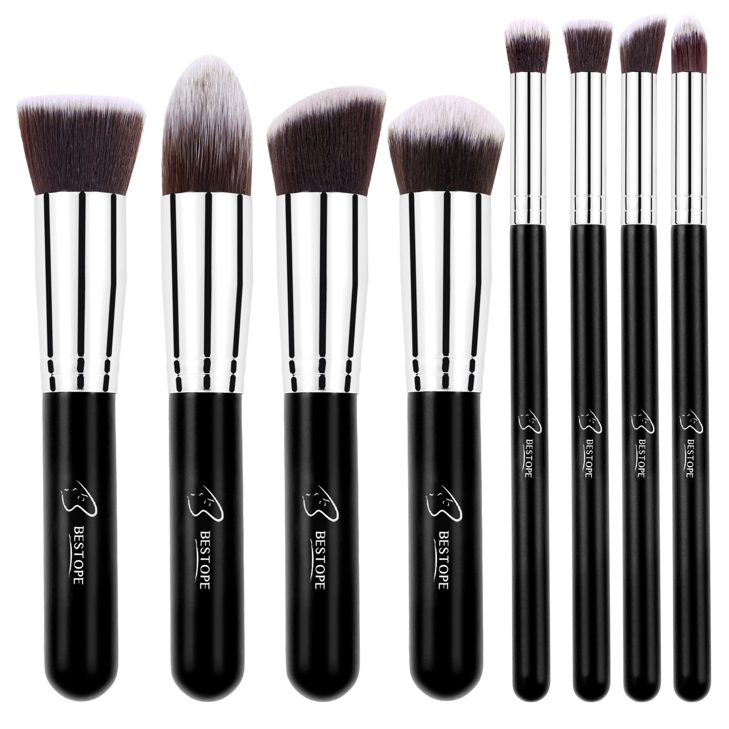 4) BESTOPE 8-piece Makeup Brushes