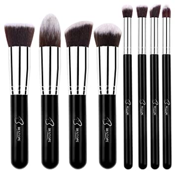 BESTOPE Makeup Brushes 8 Pieces Makeup Brush Set Professional Face Eyeliner  Blush Contour