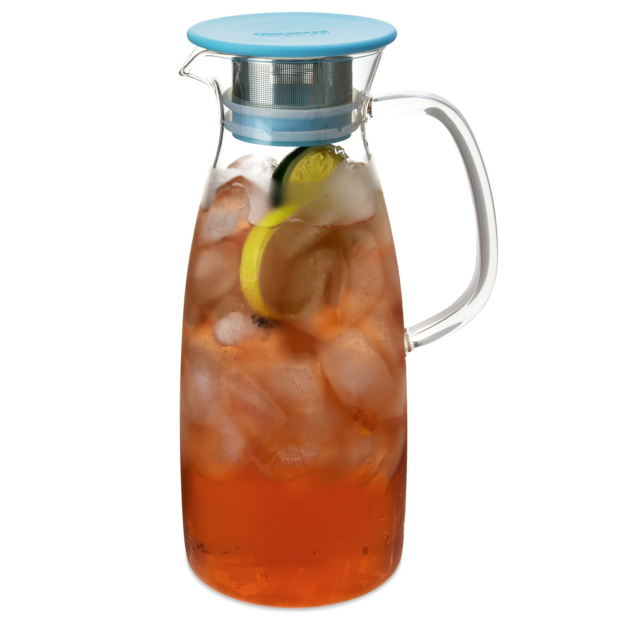 FORLIFE Mist Glass Ice Tea Jug , 50-Ounce, Turquoise by FORLIFE (Image #1)